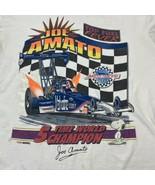 VTG Joe Amato Snoopy Champion Drag Racing Single Stitch Double Sided T Shirt - $23.38