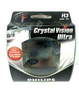 PHILIPS H3 Crystal Vision Ultra Bright White 12336CVS2 Headlight Fog Lig... - $24.14