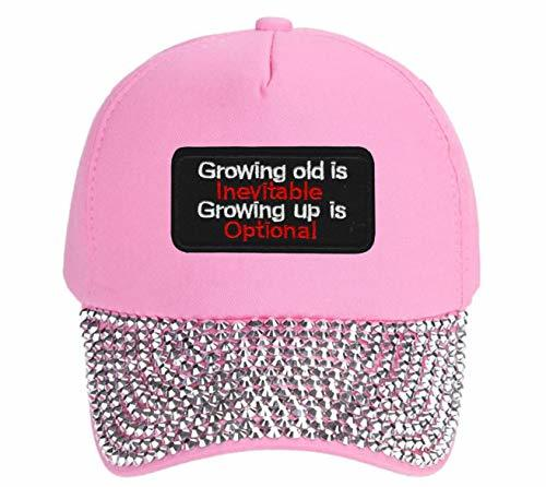Growing Old Is Inevitable Growing Up Is Optional Hat - Adjustable Womens Cap (Pi