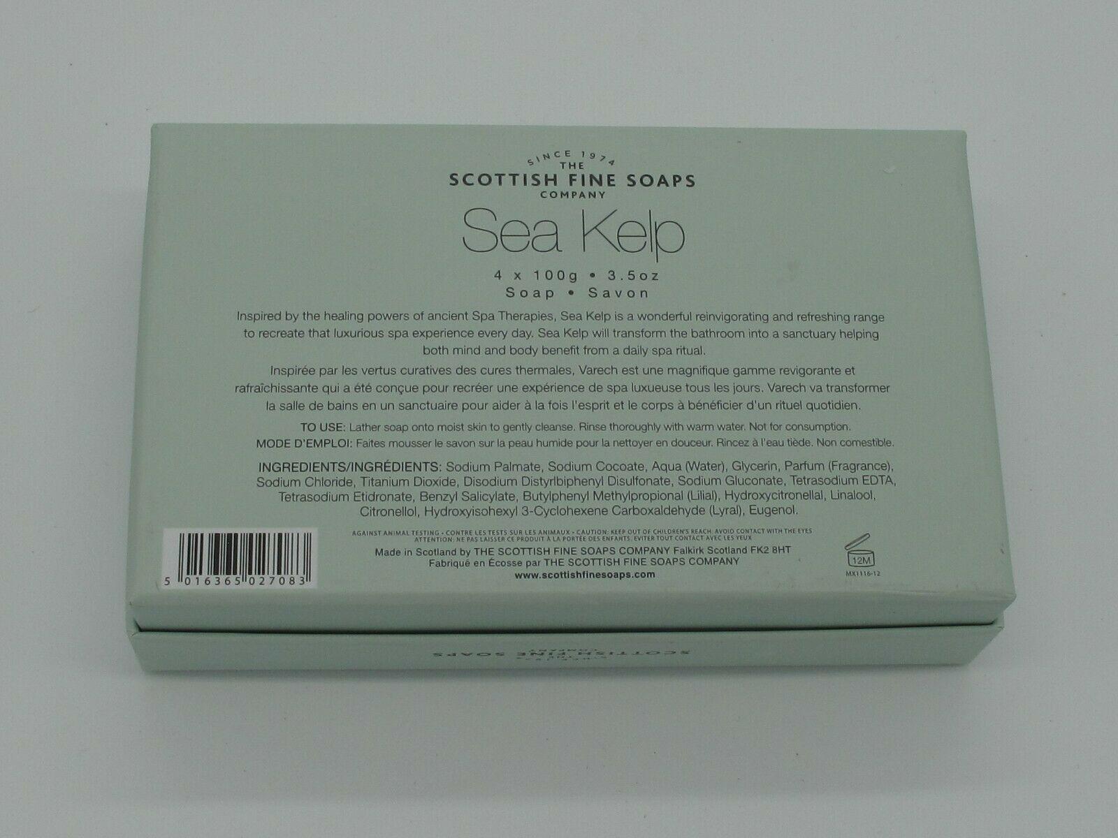 The Scottish Fine Soaps Sea Kelp Varech soap 4 x 100g 3.5 oz image 3
