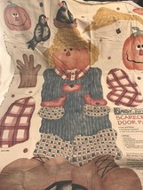 Daisy Kingdom Scarecrow Door Panel #3597 1997 Printed Fabric Panel Only ... - $12.19