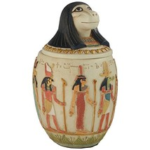 Canopic Jar of Hapi, Egyptian Statue, 8.5 Inches - $71.72