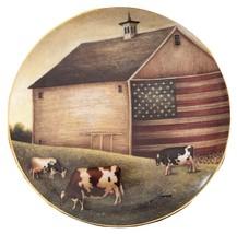Proud Pasture Cow Plate Lowell Herrero American Folk Art Franklin Mint L... - $17.82