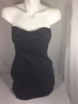 H&M Women Black Dress Size 10 Solid Black Made In Cambodia Bin64#19 - $14.03