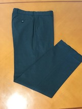 Men's Banana Republic Stripped Dark Gray Wool Dress Pants 32 x 32 - $24.74