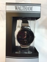 New Waltham Women's Watch WTH45 Silver Black - $10.42