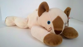 1996 Ty Pillow Pal Meow Siamese Cat Soft Plush Stuffed Animal Doll Toy 1... - $4.94