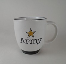 U.S Army Coffee Mug Cup 12 oz Heavy Duty US Army Star - White Ceramic - $8.47