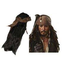 Caribbean Jack Sparrow Adult Cosplay Costume Accessories Wigs Beards Set... - $36.07