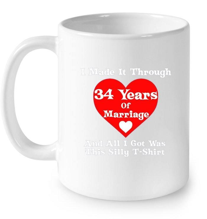 34th Wedding Anniversary Gift Marriage for Men Women Gift Coffee Mug
