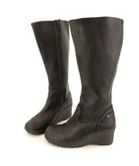 Keen Akita Women's 6 Black Tall Knee High Wedge Wide Calf Winter Boots..... - $55.74