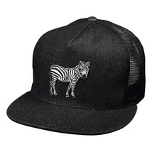 Zebra Trucker Hat by LET'S BE IRIE - Black Denim - £16.01 GBP