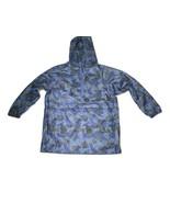 Children's Place Sz (7/8) M Windbreaker Blue Camo Jacket Rain Hoodie - $11.80