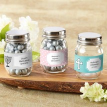 Mini Glass Mason Jar - Religious (2 Sets of 12) (Available Personalized)  - $39.99