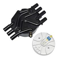 A-Team Performance Distributor Cap and Rotor Compatible with GM Vortec 262 Black