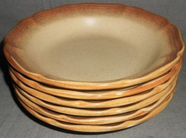 Set (6) 1970s-80s Mikasa WHOLE WHEAT PATTERN Soup/Cereal Bowls MADE IN J... - $59.39