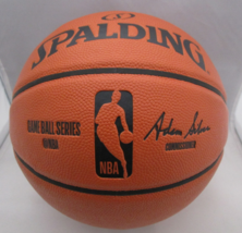 MICHAEL JORDAN / NBA HALL OF FAME / AUTOGRAPHED FULL SIZE NBA BASKETBALL / COA image 3
