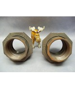 "ITT Grinnell 2""  Union Brass to Iron Coupling Class 150  Lot of 2 - $60.17"