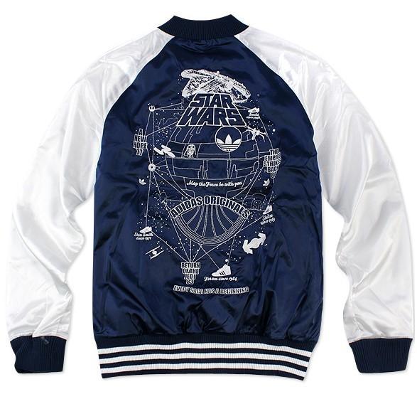 Details about New Amazing Adidas Originals X StarWars Jedi Varsity Jacket Hoodie Coat V33840