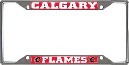 Fanmats NHL Calgary Flames Chrome Metal License Plate Frame Delivery 2-4 Days - $14.35