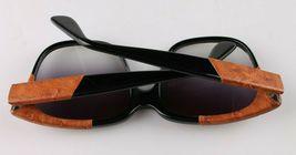 Vintage Women's Black Emmanuelle Khahn Ostrich Leather 8080 16 OS Sunglasses image 7
