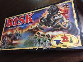 RISK The World Conquest Game 1993 Classic Board Game Army Military Compl... - $21.49
