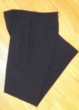 Banana Republic Stretch 31x34 Long Flat Front Wool Blend Black Dress Pants EUC - $24.74