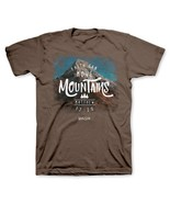 "Christian Mens T-Shirt ""FAITH CAN MOVE MOUNTAINS""  by Kerusso - NEW - $17.99+"