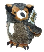 Large Fiesta Great Horned Horn Owl Plush 12 inch Stuffed Animal Lovey wi... - $29.58