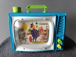 VINTAGE ANTIQUE COLLECTIBLE OHIO ART WIND-UP LULLABY TOY TELEVISION TV - $15.00