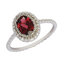 Oval Cut Rhodolite Party Wear Women 925 Silver Jewelry Ring Sz 7.5 SHRI0547 - £8.65 GBP