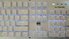 BFriend MK8 Korean English Gaming Keyboard Mechanical Plunger Switch (White) image 3