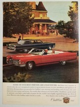 1965 Print Ad The 1966 Cadillac Convertible & Hardtop at Mansion - $11.45