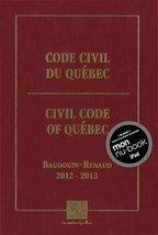Code civil du Québec 2012-2013 [Mass Market Paperback] - $48.01