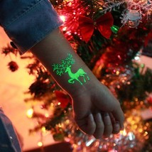 1Pc Party Decoration Luminous Temporary Tattoo Stickers Christmas Carnival Party - $2.27