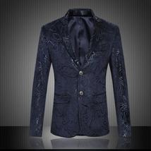 Designer Men Blazer Latest National Style Navy Men Slim Fit Blazer Jacke... - $94.00