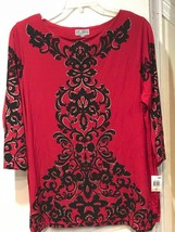 Women's Cruise Day evening party cocktail Church Tunic top blouse plus size1X 2X - $59.39