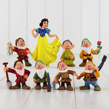 8pcs/set Snow White and the Seven Dwarfs Figure Toys 5-10 cm Lord PVS Gifts NEW - $19.50