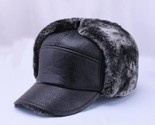 s leather hat thicken leather cowhide baseball caps with ears warm snapback dad s thumb155 crop