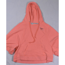 Womens Love Pink Light Salmon Wide Sleeve Hoodie Sweatshirt XS - $19.59