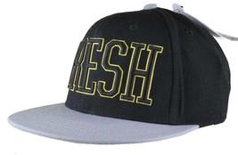 Neff Fresh Adjustable Black Yellow Snapback Hat Cap