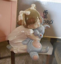 "LLADRO-NAO  ""I Love You So Much #1263 LITTLE GIRL W/BLUE BUNNY ORIGINAL ... - $93.15"