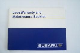 2001 subaru forester legacy impreza wrx owners maintenance schedule warranty  - $29.99