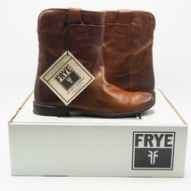 Frye Paige Short Riding-SVL Redwood Brown Ankle Boots Size 8 M NIB - $269.82