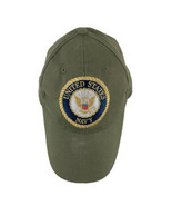 Green UNITED STATES NAVY  Embroidered  Trucker Snapback Hat Adjustable Cap  - $14.80