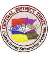 US Navy Submarine Veteran Central District Three Base Military Patch NEW!!! - $11.87