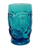 LE Smith Glass Moon and Stars Colonial Blue Water Tumbler L E Drinking 1... - $18.95