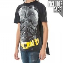 Auténtico BATMAN Caballero Oscuro Capa Dc Comics Disfraz Cine Camisa S M L XL 2X - $20.94