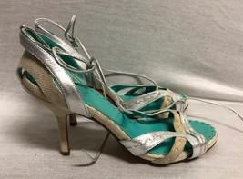 Bcbg Maxazria Shoes Heels Sandals Silver Beige Size: 6B/36 - $23.36