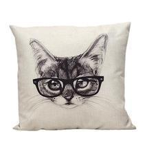 Modern Art Cat Pillow - ₨1,003.96 INR